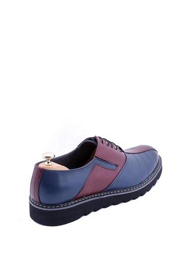 Wessi Erkek Deri Eva Taban Bağcıklı Ayakkabı Lacivert